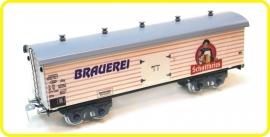 9560  wagon couvert en 4 essieux de brasserie  Schultheiss