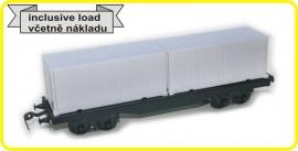 9422 platte wagon 4 asser CSD serie Smmps met lading