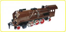 8198 locomotive à vapeur  CSD serie 387 Mikado brûne