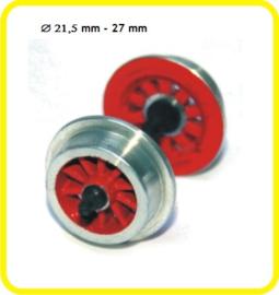 9851 spaakwiel op as  21,5 mm