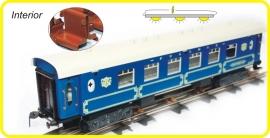 9354 blauw PULLMAN rijtuig