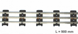 9925 tubular tinplate gauge 0 straight track 900 mm