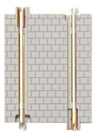 12 rechte rail 70 mm