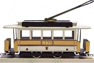 52 Duitsland, tram uit Dresden, metaal, spoor 0