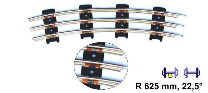 Merkur 8910 gebogen rail 625 mm