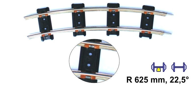 MERKUR 7910 gebogenes  Gleis  625 mm