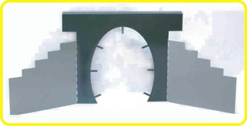 9990 Tunnel Portál - Steel semi product