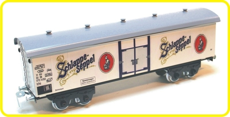 9559 wagon couvert en 4 essieux de brasserie  Schlappe Seppel
