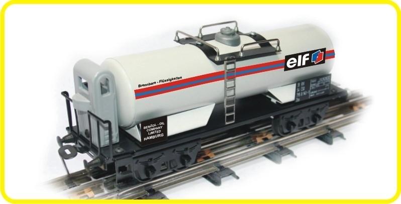 9614 Kesselwagen mit Bremserhaus  DB  ELF