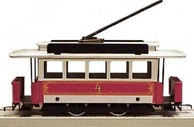51 Czech Republic tram from Prague, metal, gauge 0
