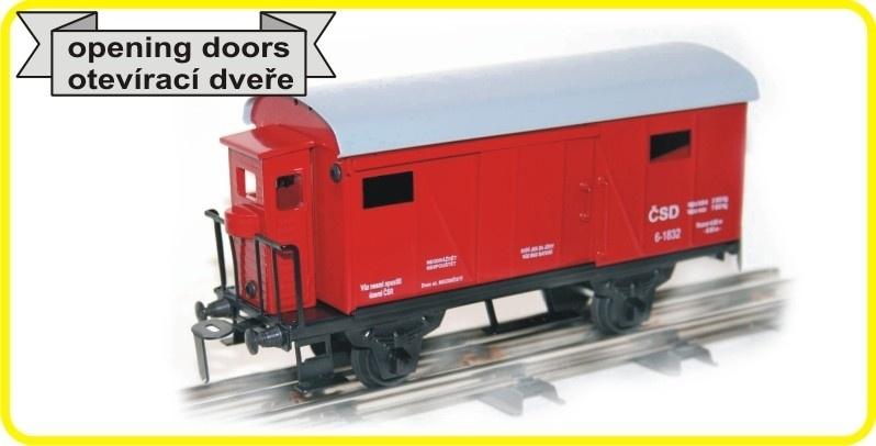 9499 gedeckter Güterwagen  CSD mit Bremserhaus  CSD reihe Lp