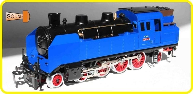 9194 stoomlocomotief CSD 354.108 blauw