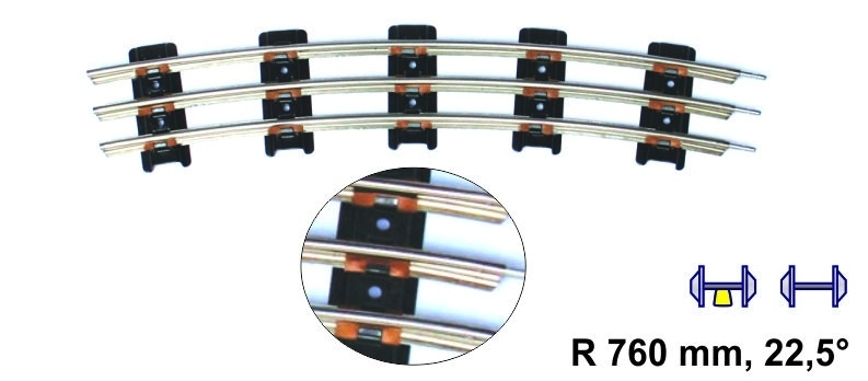 Merkur 8911 gebogen rail 760 mm