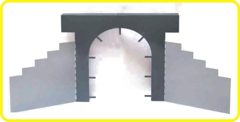 9991 Tunnel Portál - Steel semi product