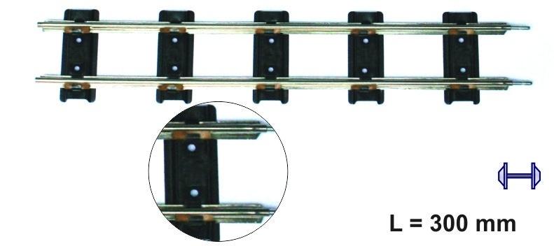 Merkur 7920  rechte rail 300 mm