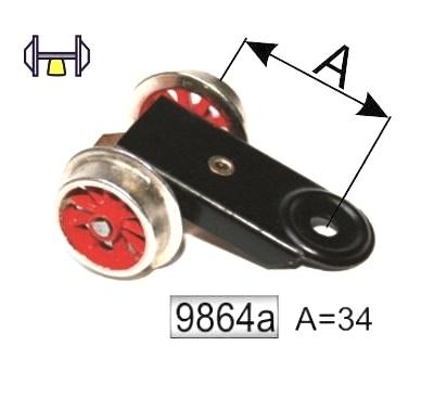 9864 A voorloopwiel locomotief