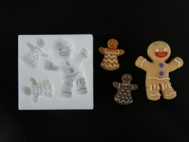 M0110 Sillicreations Mould | GINGERBREAD COUPLE