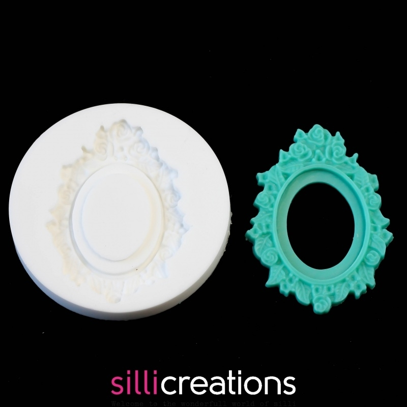 Sillicreations Mould | Cameo Frame Roses