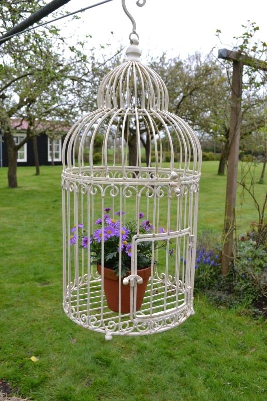 Decoratieve Vogelkooi Wit Metaal