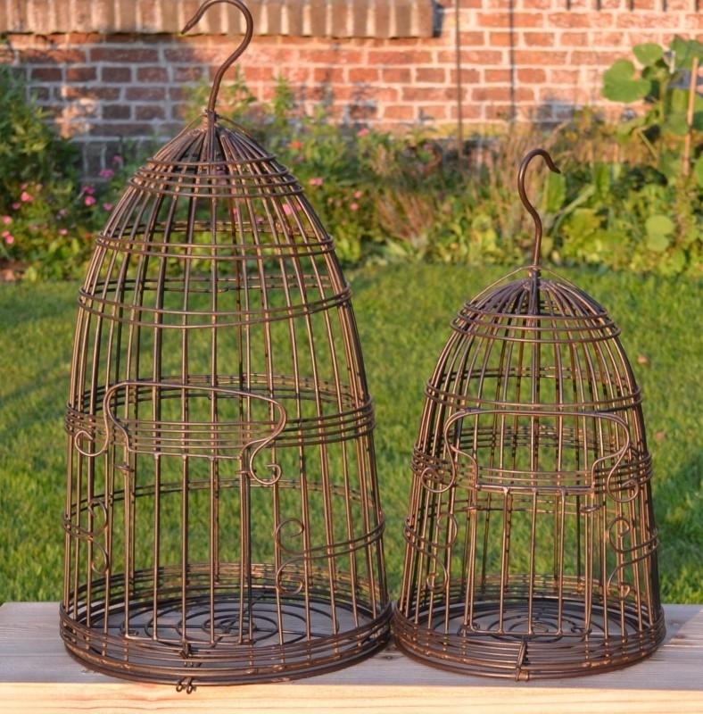 Metalen Vogelkooi Decoratie Huissier Mooie Interieurdecoratie Tuinsier
