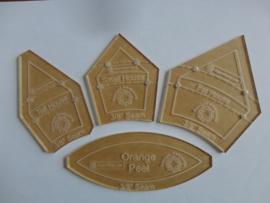 set van 4 acryl mallen met 3/8 inch naadtoeslag