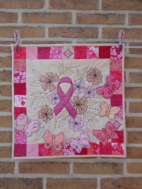 Nine pink friends quilt
