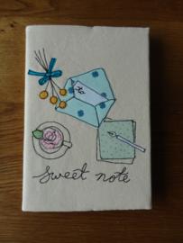 A5 notitieboekje met omslag- verkocht