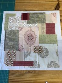 Brievenbus pakket - krans met acht bloemen