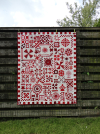 Red and white quilt sampler - 10 lessen