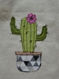 """Linnen """"cactus"""" tasje"""