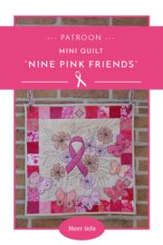 Nine pink friends quilt