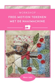 Workshop 'Free-motion tekenen met de naaimachine'