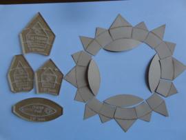 BABY brimfield set van 4 acryl mallen + karton mallen