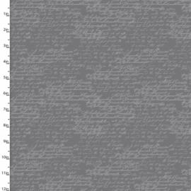 Bee happy -grijs hand schrift