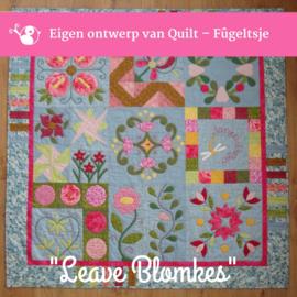 Leave Blomkes applicatie quilt