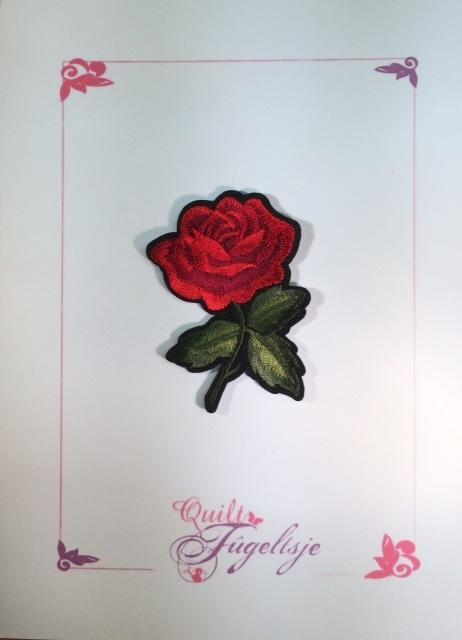 Roos met blad