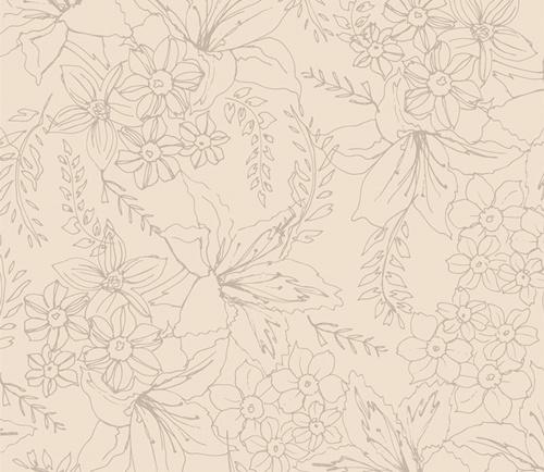 low volume - bloemen motief