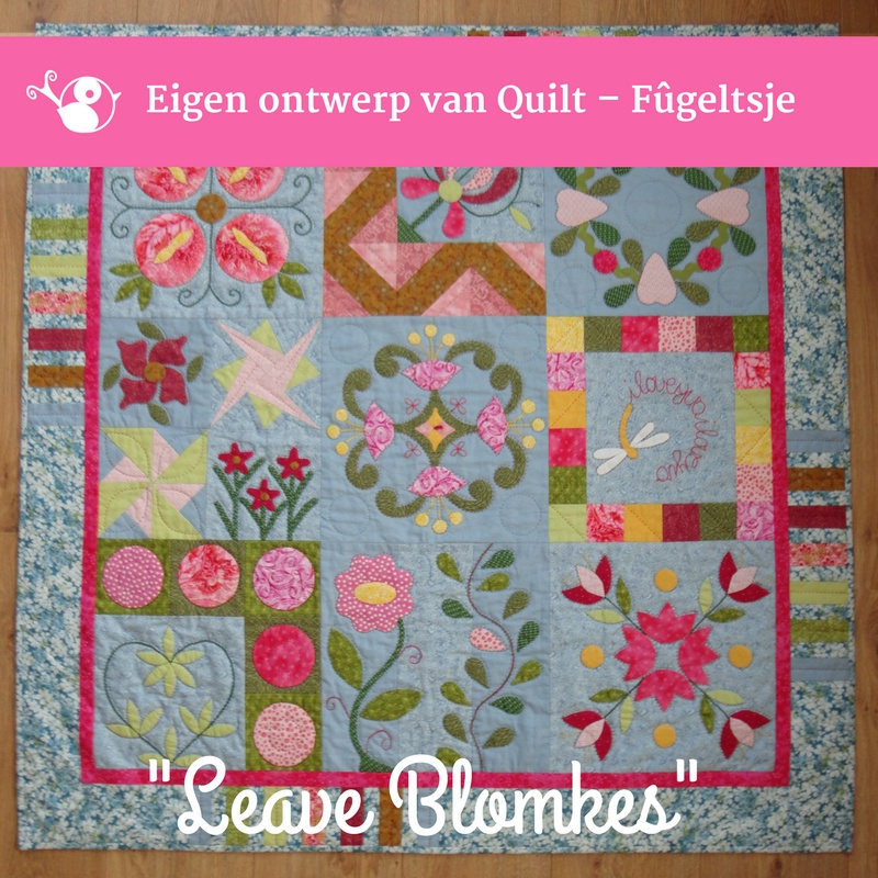 Leave Blomkes applicatie quilt