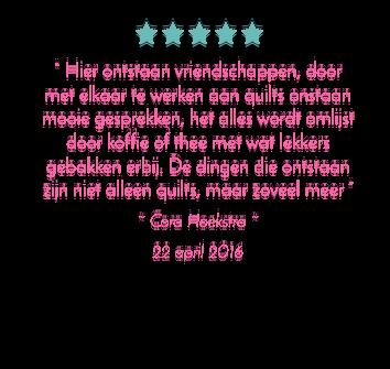 Quilt Fûgeltsje review 2