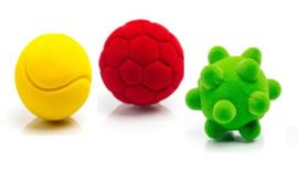 3 speelballen voor Teckel Tom