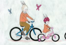 Lizzy leert fietsen