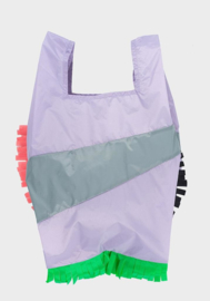 Shopping Bag Fringe Party Grey - L
