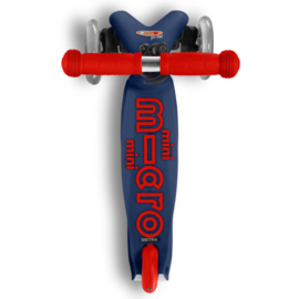 Mini Micro step deluxe marineblauw/rood