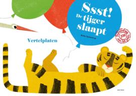 Kamishibai theater + vertelplatenset Ssst De tijger slaapt