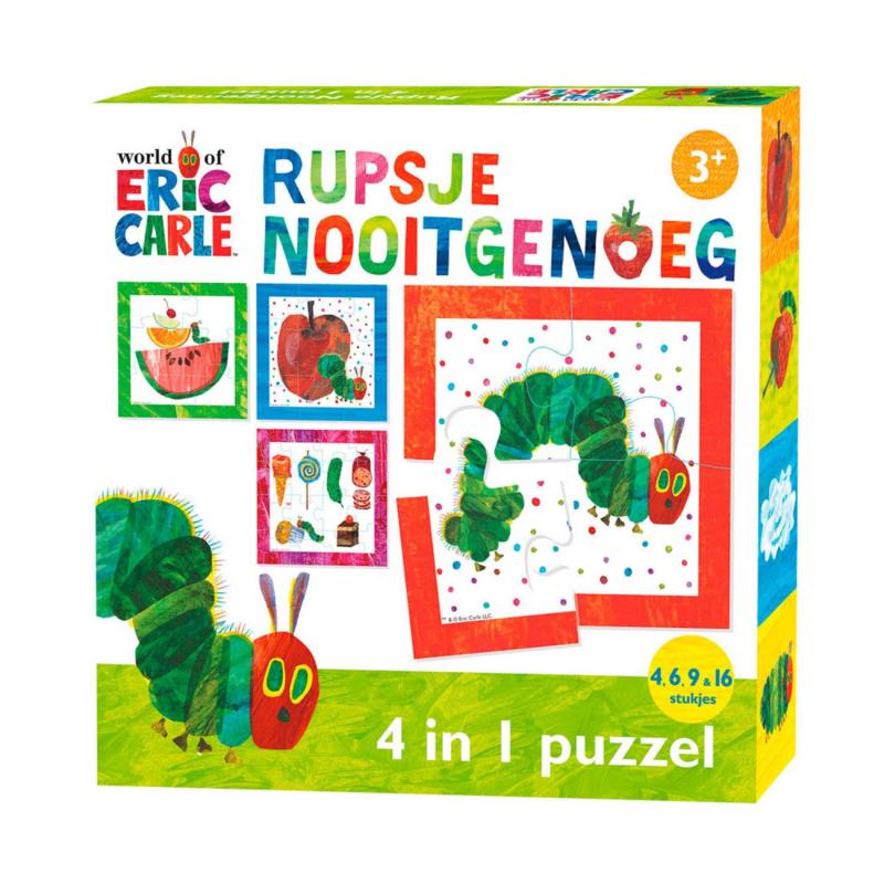 Rupsje Nooitgenoeg 4 in 1 puzzel