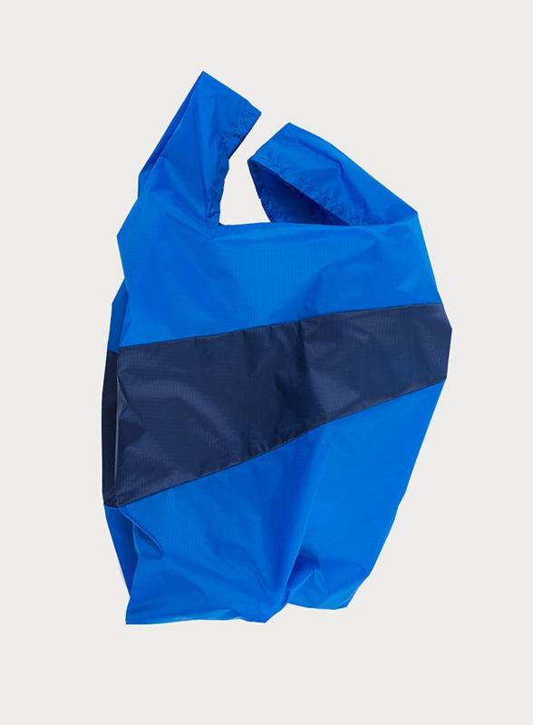 Shopping Bag Blue & Navy - M