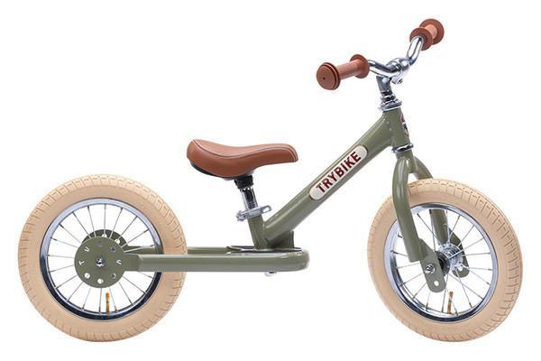 Trybike - Steel 2-in-1 Loopfiets - Vintage groen