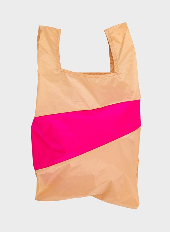 Shopping Bag Peach & Pretty Pink - L