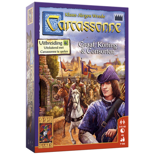 Carcassonne: Graaf, Koning en Consorten - Bordspel