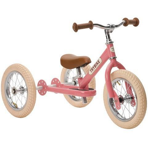 Trybike - Steel 2-in-1 Loopfiets - Vintage roze